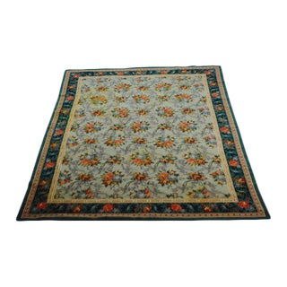 """French Abusson Flat Pile Floral Rug - 5' 3"""" X 7"""" 3"""""""