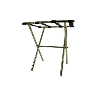 Brass Faux Bamboo Luggage Rack