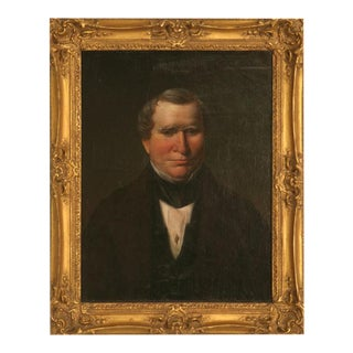 Original Antique Painted Portrait of a Gentleman on Canvas
