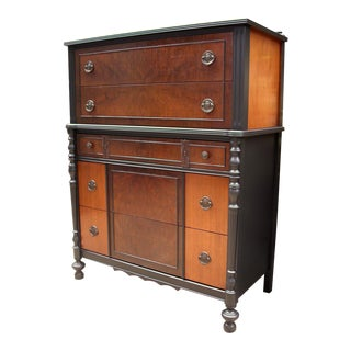 Cushman Heirloom Walnut Highboy Dresser