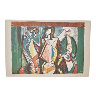 Mid Century Figural Abstract by Becker c.1953