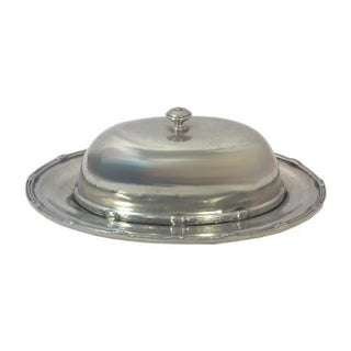 Pewter Oval Butter Lidded Dish