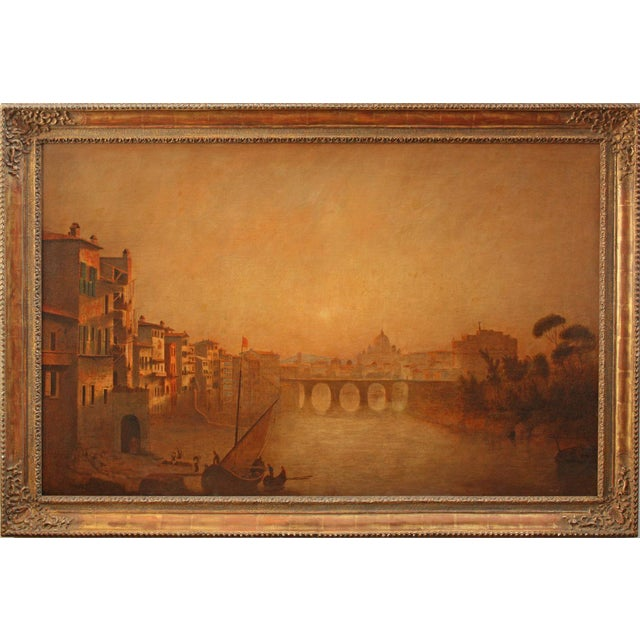 View of Rome including Saint Peter's Basilica and Ponte Castel Sant'Angelo - Image 1 of 5