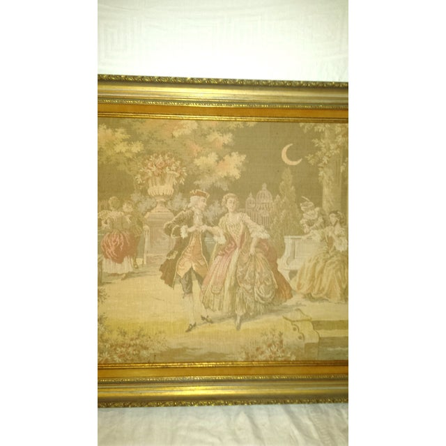 Antique Very Large Framed French Tapestry - Image 4 of 7