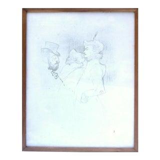 """Henri De Toulouse-Lautrec """"Pour Qui Pas?...Une Fois N'est Pas?"""" Print"""