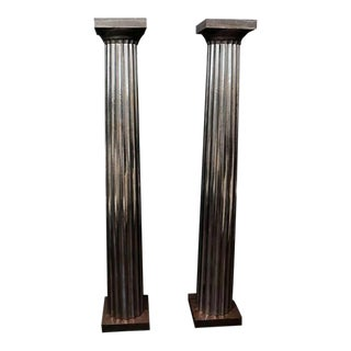 1930's Cast Iron and Tin Columns