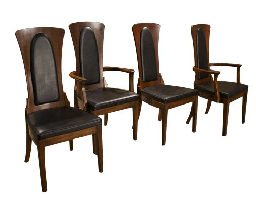 Mid Century Modern Caldwell Dining Chairs Set 4