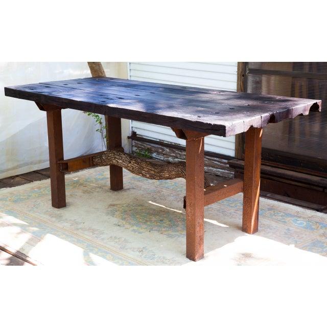 Wabi-Sabi Yakisugi Wood Dining Island Table Console - Image 10 of 11
