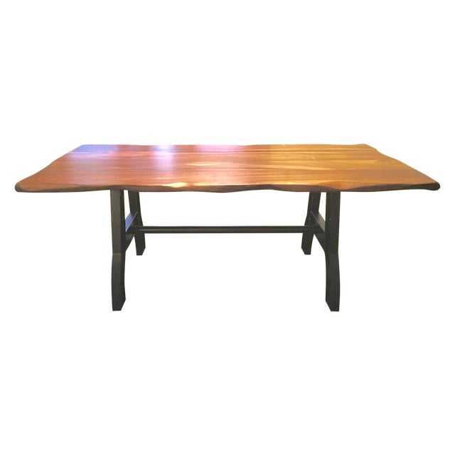 trestle leg dining room table chairish