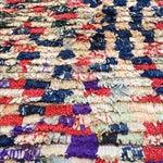 Image of Moroccan Boucherouite Pile Rug - 3′2″ × 4′