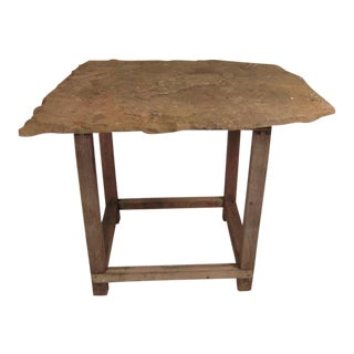 English Roof Slate Top Table