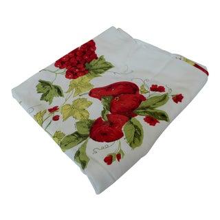 Vintage Cotton Red Fruit Tablecloth