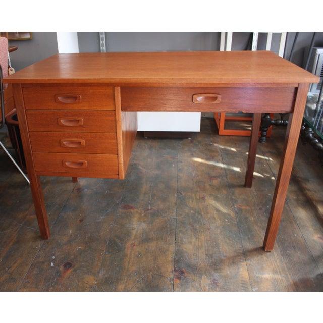Danish Modern Teak Student Desk - Image 2 of 10