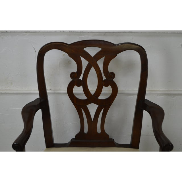 Baker Vintage Set of 6 Solid Mahogany Chippendale Style Dining Chairs - Image 6 of 10
