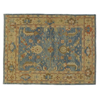 Modern Turkish Oushak Rug - 7′9″ × 10′1″