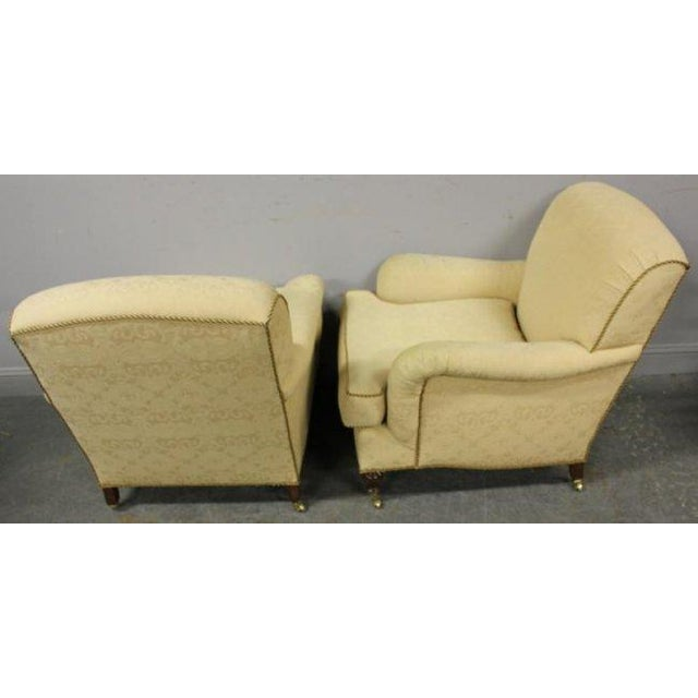 Image of Classic Upholstered Club Chairs - A Pair
