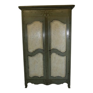 Antique French Painted Armoire