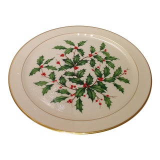 Lenox Porcelain Holly Berry Dessert Plate
