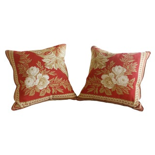 Neoclassical Style Throw Pillows - A Pair