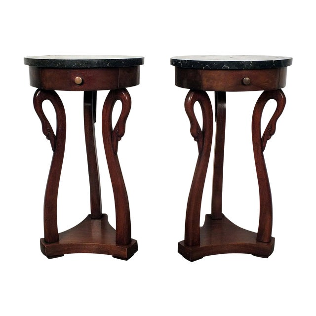 Image of Antique French Empire Side Tables - A Pair