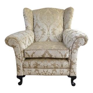 Aslan Textured Velvet Armchair, 1930s