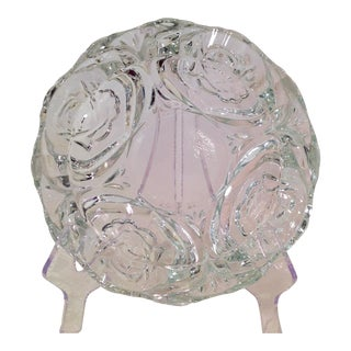 Vintage Crystal Rose Pasari Ashtray