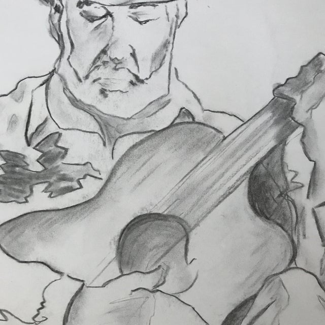 The Guitarist 1 - Drawing - Image 3 of 3