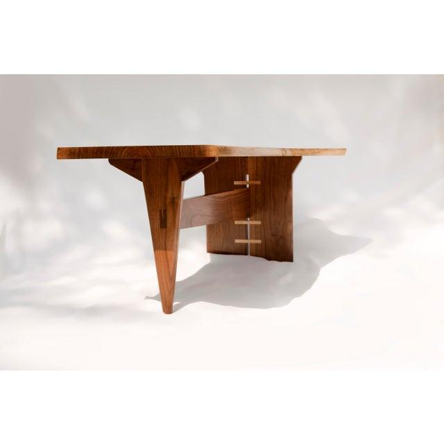 Mid-Century Modern Walnut Live Edge Slab Coffee Table - Image 6 of 6