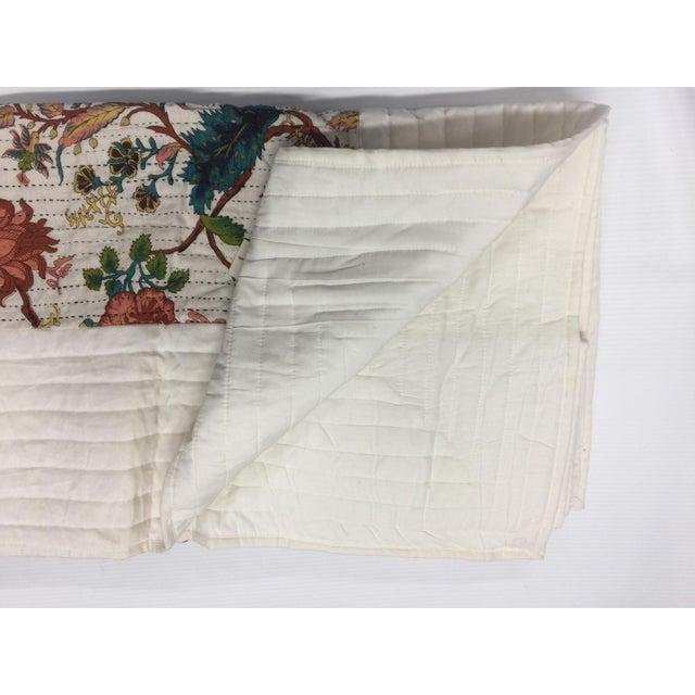 Vintage Chintz Bohemian Kantha Quilt - Image 4 of 4