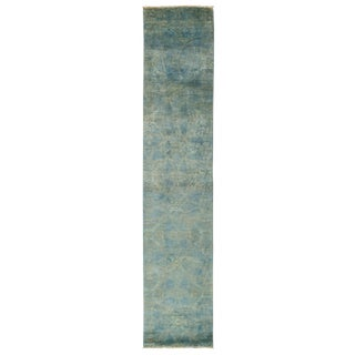 "New Overdyed Hand Knotted Runner - 2'6"" x 12'3"""