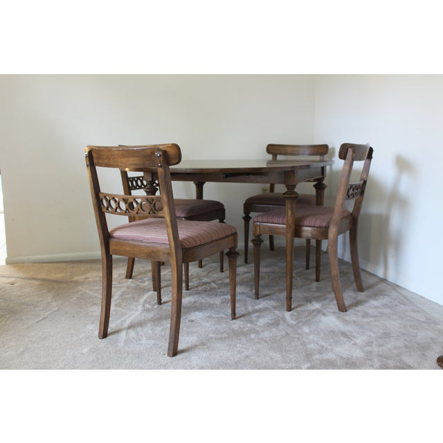 Mid-Century Drop Leaf Dining Set - Image 4 of 7