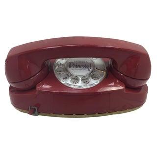 Red Princess Rotary Dial Telephone Modular
