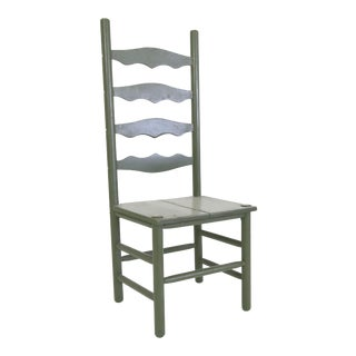 Primitive Hardwood Ladderback Chair
