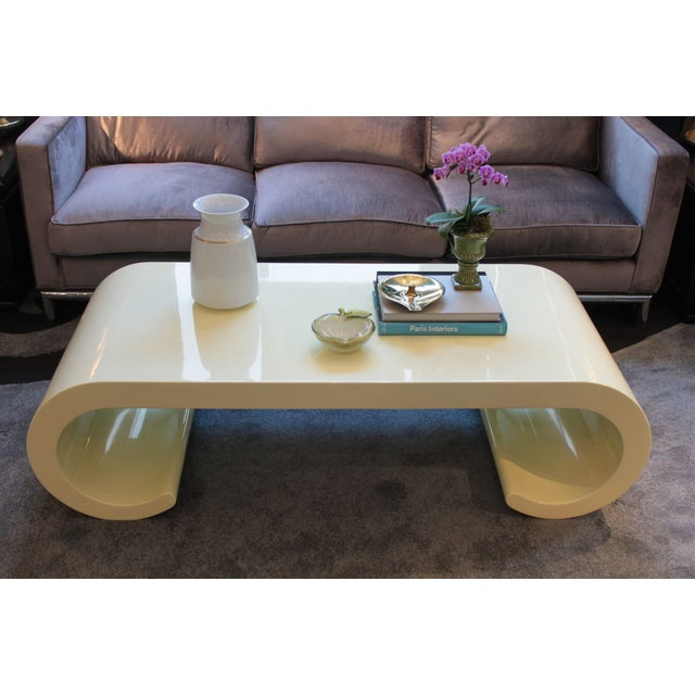Soft Yellow Coffee Table - Image 4 of 4