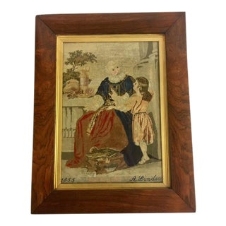 Religious Samuel Antique Needlepoint