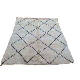 Beni Ourain Luxury Pile Rug - 6′8″ × 8′5″
