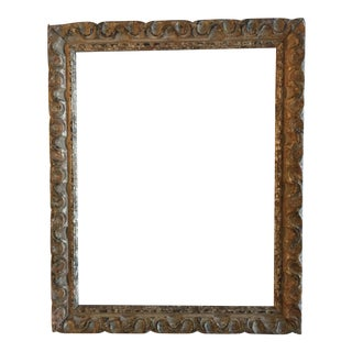 Mid-Century Carved Picture Frame