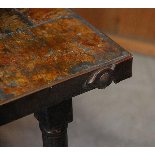 Image of Jacques Adnet French Mid-Century Slate Coffee Table