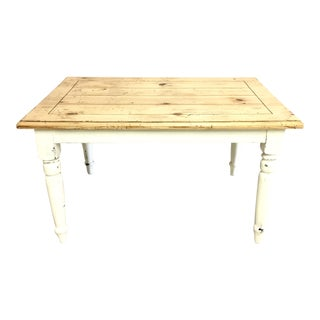 Hand-Painted Farmhouse Dining Table