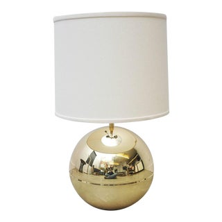 Karl Springer Brass Sphere Table Lamp