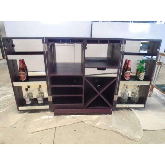 Image of Mirrored Wine Bar Cabinet