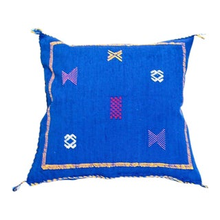 Cobalt Blue Sabra Throw Pillow