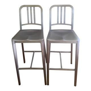 Emeco Aluminum Bar Stools - A Pair