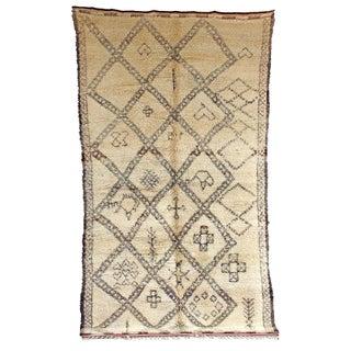 "Vintage Beni Ourain Moroccan Berber Rug - 6'3"" x 11'2"""