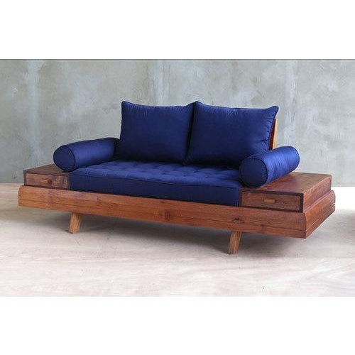 Floating Blue Loveseat by Masaya & Company - Image 3 of 8