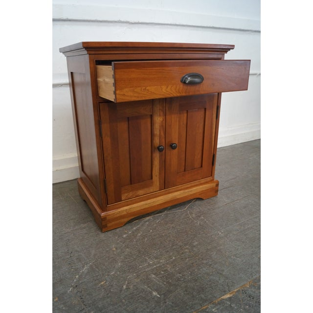 Michaels Furniture Traditional Solid Cherry Nightstands - A Pair - Image 10 of 10