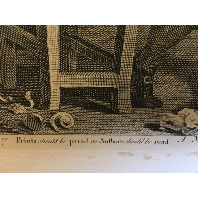 1804 Hogarth Etching Midnight Modern Conversation - Image 5 of 8