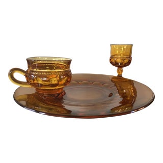 Amber King's Crown Thumbprint Snack Sets - Set of 4