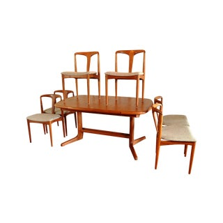 Danish Butterfly Table & 6 Chairs by J. Andersen