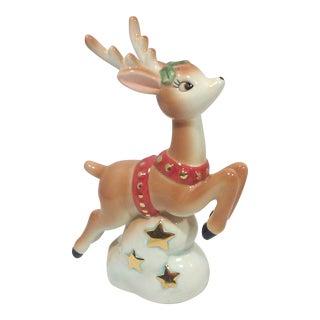 Christopher Radko Shiny Brite Ceramic Leaping Rudolph Pepper Shaker